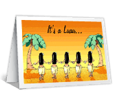 Luau printable card