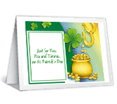 Luck Forever! greeting card