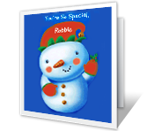 Make Christmas Extra Happy printable card