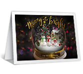 Merry and Bright Christmas printable card