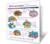 Mommies of the Animal Kingdom printable card