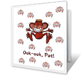 Monkey-Talk greeting card