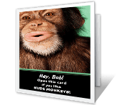 Monkeying Around printable card