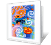 Moonlight and Magic greeting card
