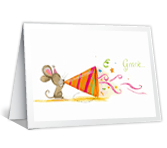 Mouse Party printable card
