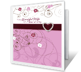 My Beautiful Wife printable card