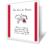 My Forever Love printable card