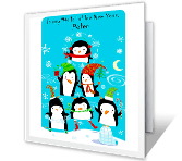 New Year Hello greeting card