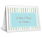 Note of Thanks greeting card