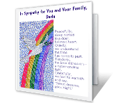 On the Loss of Your Husband greeting card