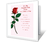 One Perfect Rose greeting card