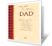 Only God Can Make a Dad greeting card