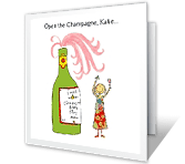 Open the Champagne! printable card