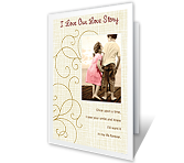 Our Love Story Add-a-Photo greeting card