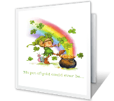 Pot of Gold Special printable card