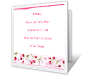 Precious Granddaughter greeting card