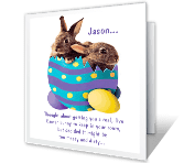 Real Easter Bunny printable card