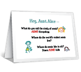 Riddles About Aunts printable card