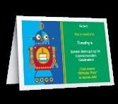 Robot Fun invitation
