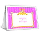 Royal Birthday Party Add-a-Photo printable card