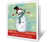 Season's Greetings printable card
