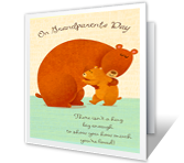 Sending a Hug printable card