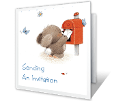 Sending an Invitation printable card