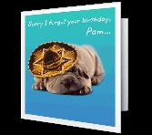 Senor Moment greeting card