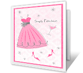 Simply Fabulous printable card