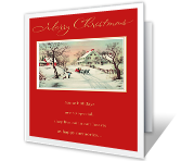 Sleigh Ride printable card