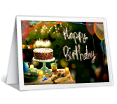 Sparkling Birthday Wishes printable card