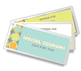 Special Coupons printable card
