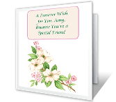 Special Friend greeting card