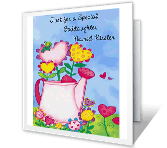 Special Goddaughter printable card