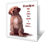 Special Grandpa printable card