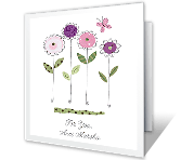 Special Wish for Aunt greeting card