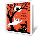 Spooky Greetings printable card