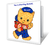 Starting School printable card