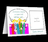 Super-Cool Party Add-a-Photo invitation