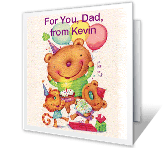 Super Great Dad greeting card