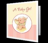 Sweet Baby Girl greeting card