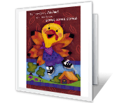Talkin' Turkey greeting card