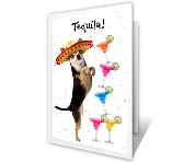 Tequila Birthday greeting card