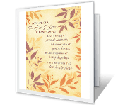 Thankful for Your Love printable card