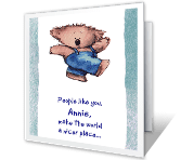 Thanks for Being Special printable card