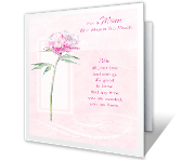 Thanks for Mom printable card