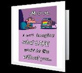 Thanks, Mom! greeting card