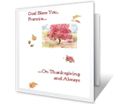 Thanksgiving Blessings printable card