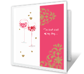 The best part of my day... printable card