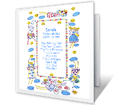 The Birthday Girl printable card